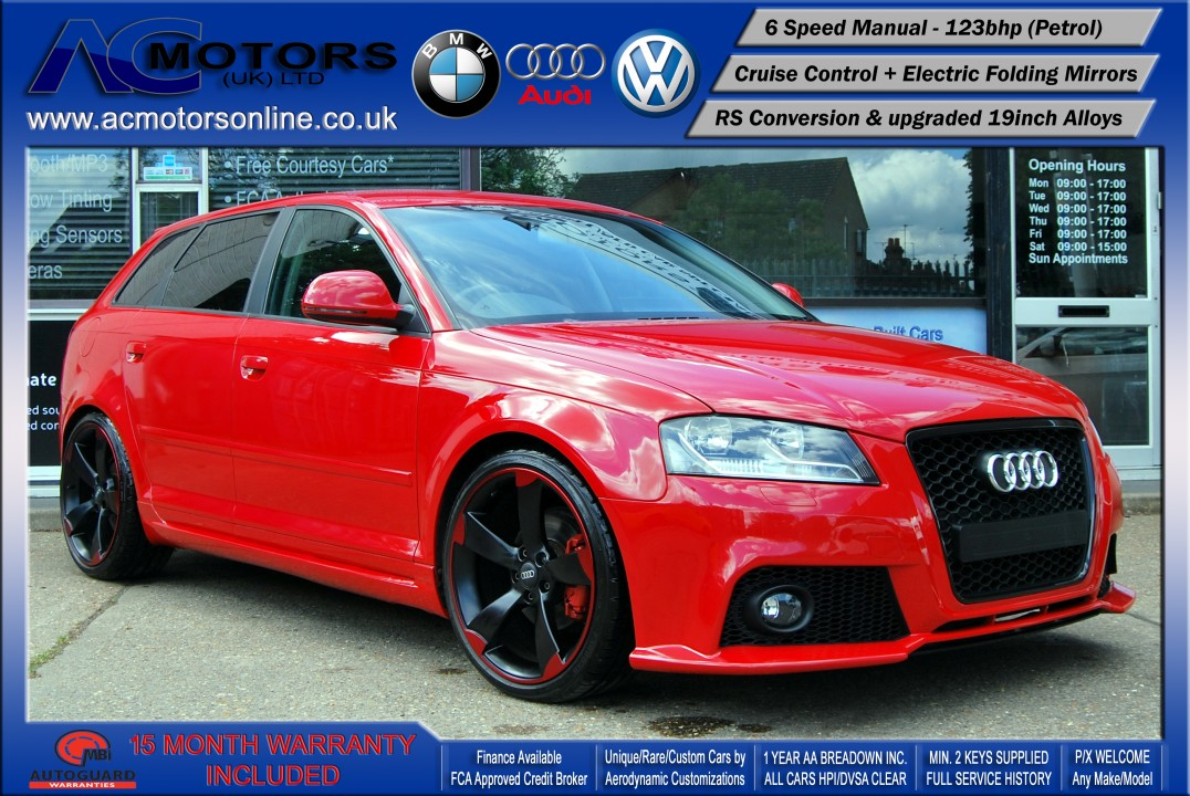 audi a3 rs rs3 style 1 4 tfsi 2008 123bhp image 1. Black Bedroom Furniture Sets. Home Design Ideas